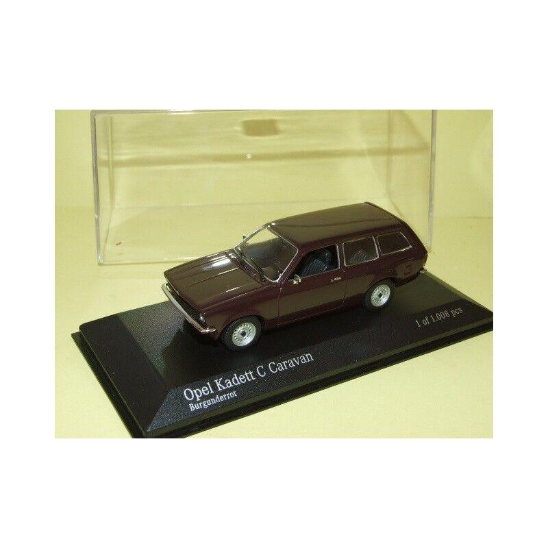 Opel Kadett C Caravan 1973-1977 Burgundy Red Minichamps 1 43