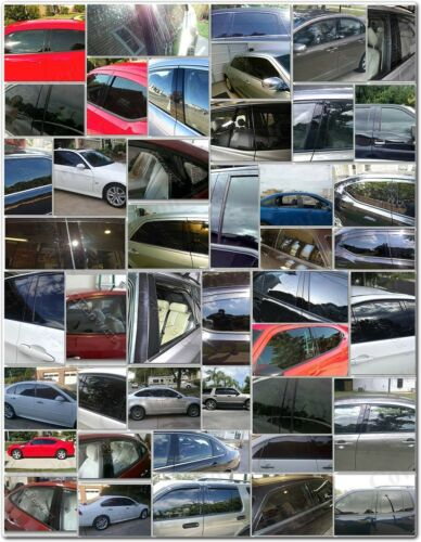 BLACK Pillar Posts for Land Range Rover Hse 03-13 12pc Set Door Cover Trim