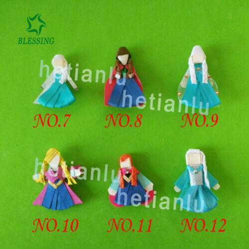 "50 BLESSING Girl 2.5/""  Hair Bow Clip FROZEN Princess Elsa Anna Olaf Snowflake"