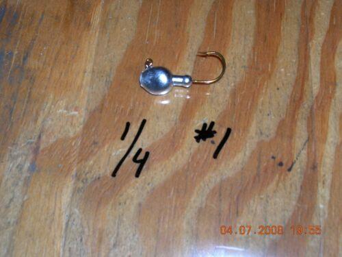 25 1//4oz Walleye Jigs on Bronze Mustad Hooks  #2  #1  1//0  2//0 or 3//0 You Choose