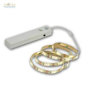 LED-Stripe-1m-Batteriebetrieb-weiss-mit-Bewegungsmelder-SMD-Leiste-flexibel-Strip
