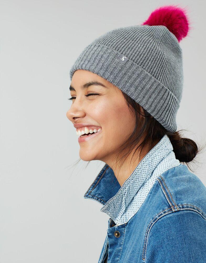 Joules Femme Snowday Léger Tricot Chapeau-charbon