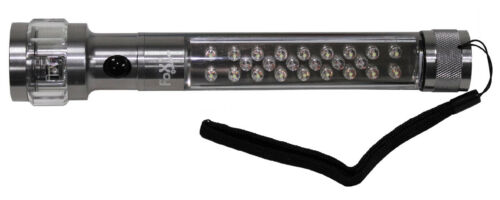 LED Wand Lamp Large Flashlight 3 Functions Flashing White Red Waterproof