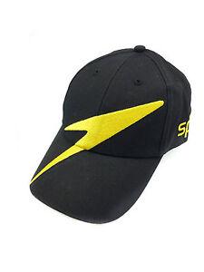 New Speedo Classic Baseball Hat Cap unisex Black with big golden ... 7d731dc422e