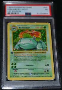 Holo-Foil-Venusaur-15-102-1st-First-Edition-Base-Set-Pokemon-Cards-PSA-1-PR