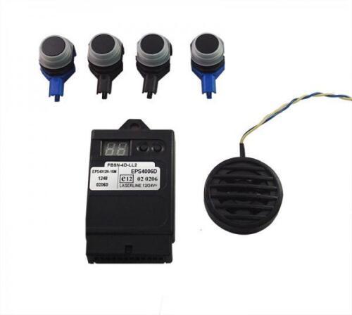 Laserline EPS4012-U OEM FACTORY Look 4 vías Sensores de Aparcamiento Marcha Atrás Trasero