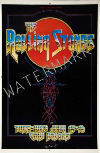 The Rolling Stones Cow Palace 1975 concert poster