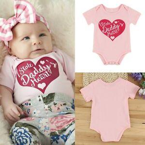 7b30b2fd7053 Newborn Infant Baby Boy Girls Love Heart Romper Jumpsuit Bodysuit ...