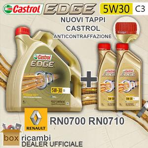 6 L LITRI OLIO MOTORE CASTROL EDGE 5W30 FST C3 RENAULT RN 0700 / 0710 - DEXOS2