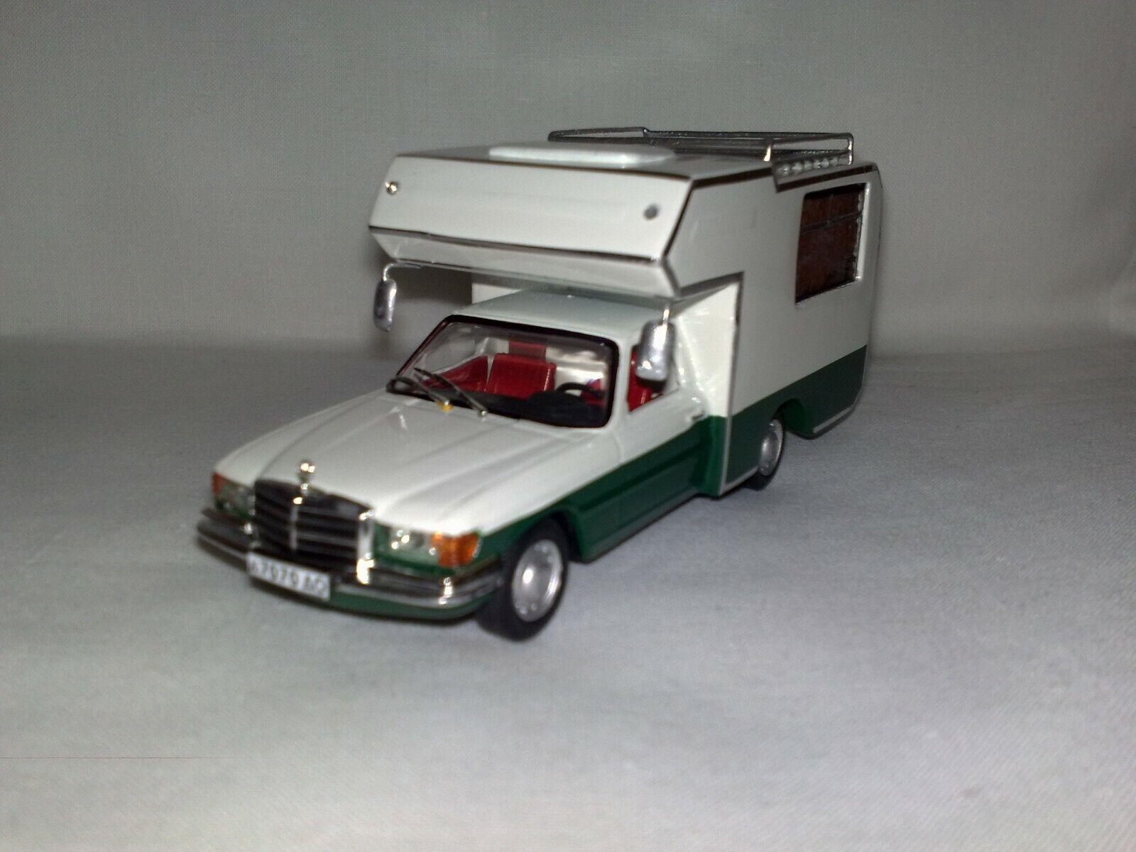 Mercedes W116 Autohome Camper 1/43 Handmade Conversion