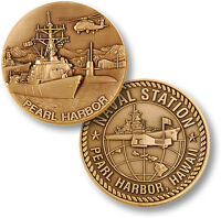 U.s. Navy - Naval Station Pearl Harbor, Hawaii - Usn Bronze Challenge Coin