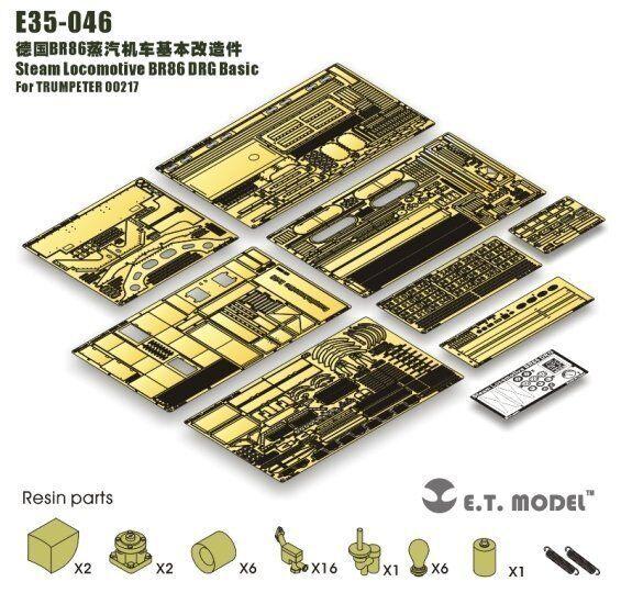 ET Model 1 35  E35046 Steam Locomotive BR86 DRG Detail Up for Trumpeter 00217