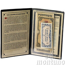 JAPANESE INVASION MONEY from World War II - 5 Note Collection in Album with COA