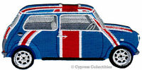 British Flag Car Embroidered Iron-on Patch Union Jack Automobile Mini Cooper