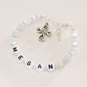 Preiswert Kaufen Mädchen Name Armband, Personalisiert Taufe Armband Für Mädchen, Name Schmuck 100% Original