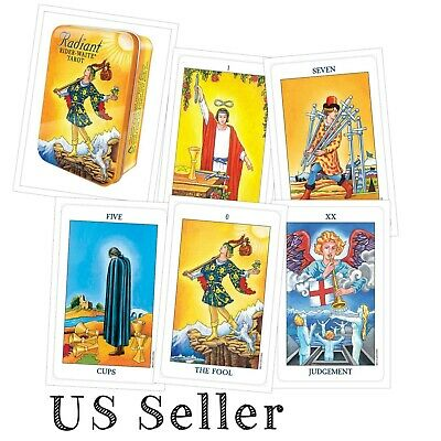 For tarot reading Brilliantly colored deck Radiant Rider-Waite in a Tin