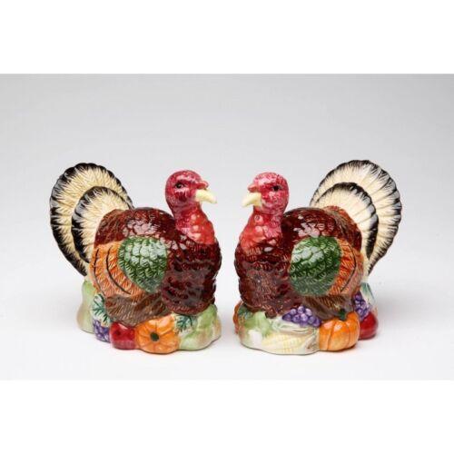 56540 Turkey Thankgsgiving Salt Pepper Shaker Set Autumn Holiday Harvest Kitchen