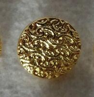 10 schöne Knöpfe Kinderknöpfe Trachtenknöpfe Bastelknöpfe goldfarben 1,5 cm Ø