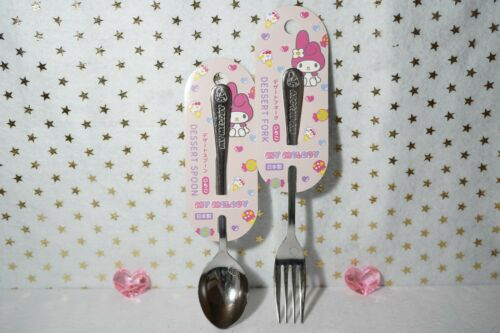 18cm Sanrio JAPAN My Melody Stainless Steel Spoon /& Fork Set Made in JAPAN #2