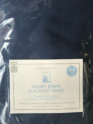 Pottery Barn Kids Rugby Blackout Curtain Panel 84 Quot Navy
