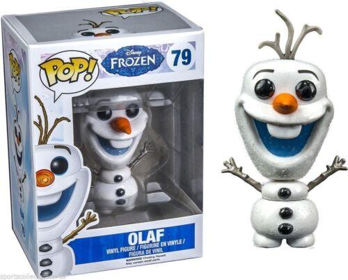 "Boîtier Endommagé DISNEY exclusives Frozen Glitter Olaf 3.75/"" FIGURINE EN VINYLE POP FUNKO 79"