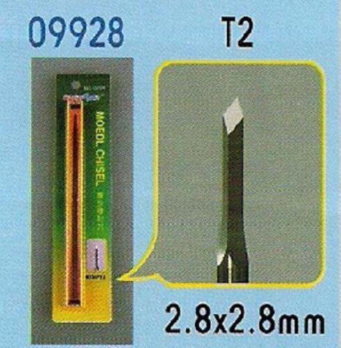 CISEAU A BOIS T2 (2.8 x 2.8 mm) pour modélisme - TRUMPETER n° 9928