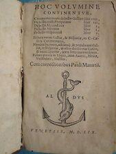 GIOCONDO / MANUCE : CESAR BELLO GALLUS / ALEXANDRINO... Venise, 1559. Provenance