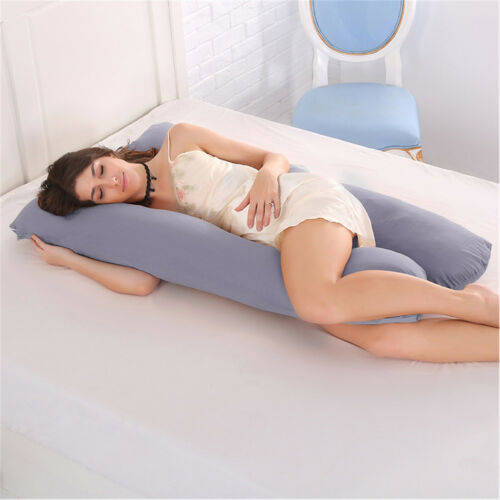 U-Shape Full Body Pregnancy Pillow Cover Maternity Support Side Sleeping Cushion