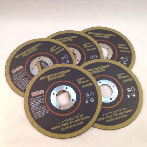 """Cut-off Wheels Metal Super Thin 4 1//2/""""x1//32/""""x7//8/"""" 5 pack"""