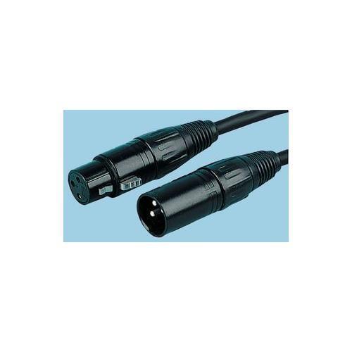 10 METRES M-F PLS00236 BLACK CONNECTOR XLR MICROPHONE LEAD PULSE