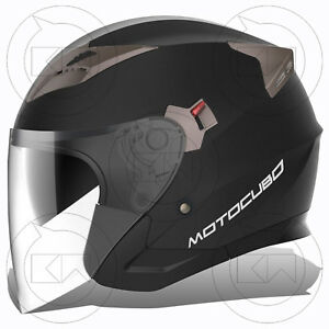 CASCO-JET-TOURER-MOTOCUBO-NERO-OPACO-DOPPIA-VISIERA-OMOLOGATO-ECE-MOTO-SCOOTER