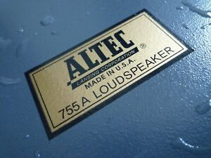 ALTEC-LANSING-755A-Type-B-water-decal-sticker-label-New-reproduction-DIY