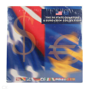 *** Usa The 50 State Quarters & Euro Coin Collection 2002 Kms Mit 12x 1 Euro *** Eine GroßE Auswahl An Modellen