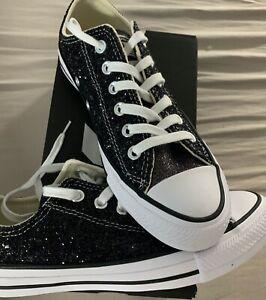 Details zu Converse Converse Chuck Taylor All Star Gr. 37,5 BlackSilverwhite Glitzer NEU