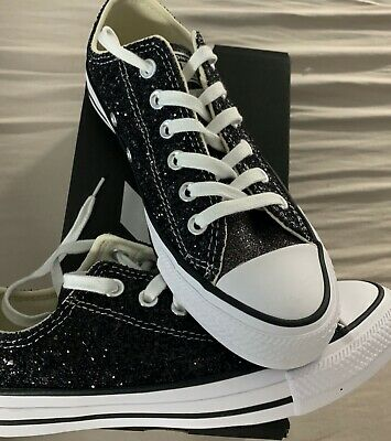 Converse Converse Chuck Taylor All Star Gr. 37,5 BlackSilverwhite Glitzer NEU   eBay