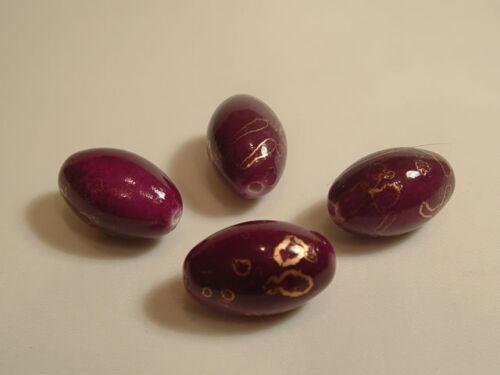 8 x Acrylic Large Rice Grain Beads 22.75mm x 14.4mm BNA10 Purple