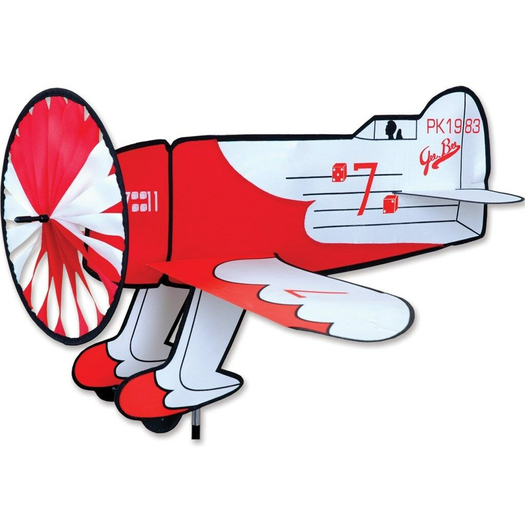 Gee Bee Replica Staked With Pole & Ground Mount Airplane Spinner..30..  PR 26302
