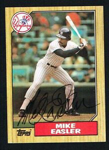 Mike-Easler-135-signed-autograph-auto-1987-Topps-Baseball-Trading-Card