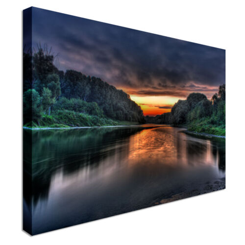 Photographic Scenic landscape Lake Canvas Wall Art Print Large Any Size