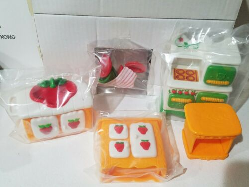 Vintage Strawberry Shortcake Berry Happy Home Kitchen Furniture New In Package Royalbikerentals