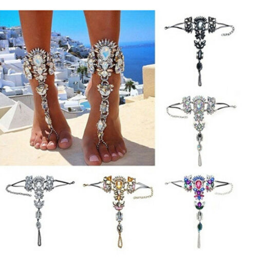 Multi Color Bohemian Trendy Barefoot Sandal Beach Anklet Foot Chain Jewelry JJ
