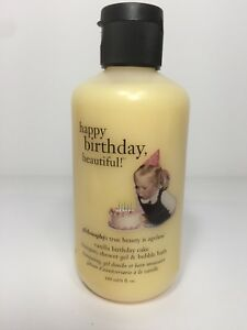 Image Is Loading Philosophy Vanilla Birthday Cake Shampoo Shower Gel Bubble