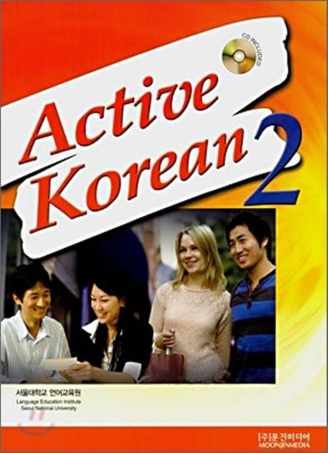 Active Korean 2 Korean Language Book w/ CD Seoul SNU Free Ship