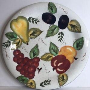 Image is loading Oneida-034-VINTAGE-FRUIT-034-Hand-Painted-Dinnerware- & Oneida