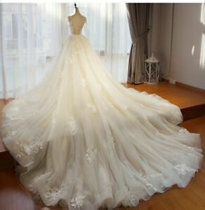 Soft-Detachable-Train-Only-Removable-Skirt-White-Ivory-Custom-For-Wedding-Lace