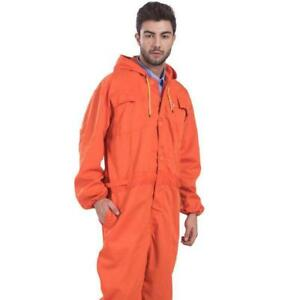 Chic Men's Hooded Hoodie Coverall Overall Mechanic Protective Work Suit Uniform