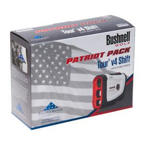 Bushnell-Tour-V4-Shift-Patriot-Pack-Golf-Laser-Rangefinder-w-Case-amp-Battery