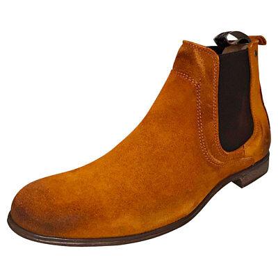 2019 Nuovo Stile Sneaky Steve Cumberland Da Uomo Cognac In Pelle Scamosciata Chelsea - 43 Eu-mostra Il Titolo Originale