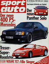 sport auto 10/87 Bentley Turbo R Sierra RS 500 Panther Solo 2 Treser Roadster
