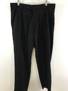 George Para Hombre De Vestir Pantalones Sueltos De 36 X 30 Negro D10 Ebay